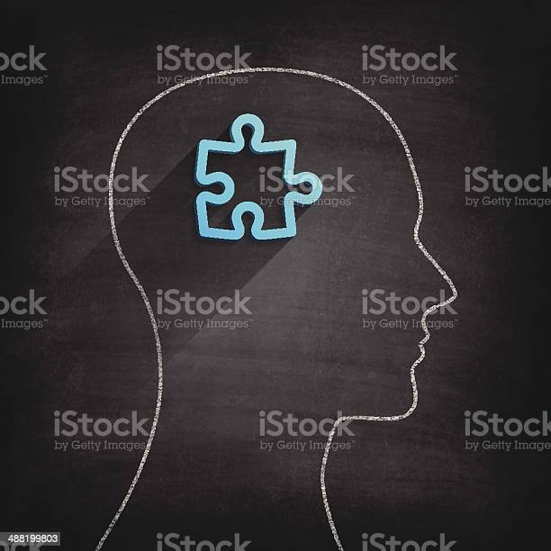 Puzzle head on blackboard chalkboard vector id488199803?b=1&k=6&m=488199803&s=612x612&h=g1of k97uqh wqzj pmdk8z3it7y 3cjpru9d tkbme=