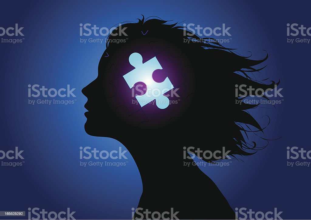 Puzzle head royalty-free stock vector art