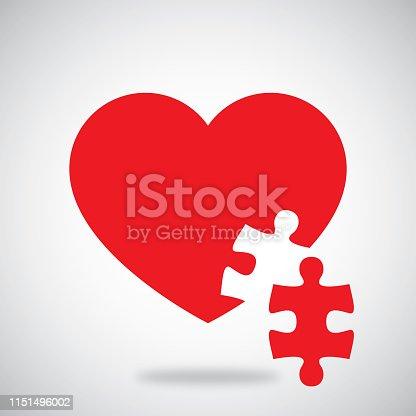 istock Puzzle Heart 1151496002