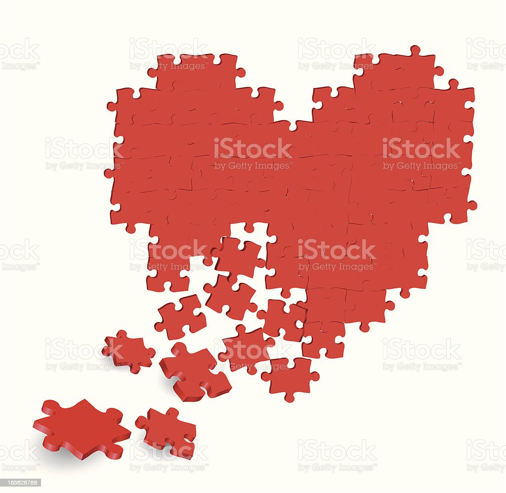 Puzzle Heart royalty-free stock vector art