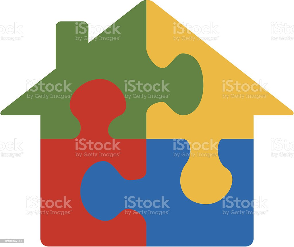 Puzzle House royalty-free stock vector art