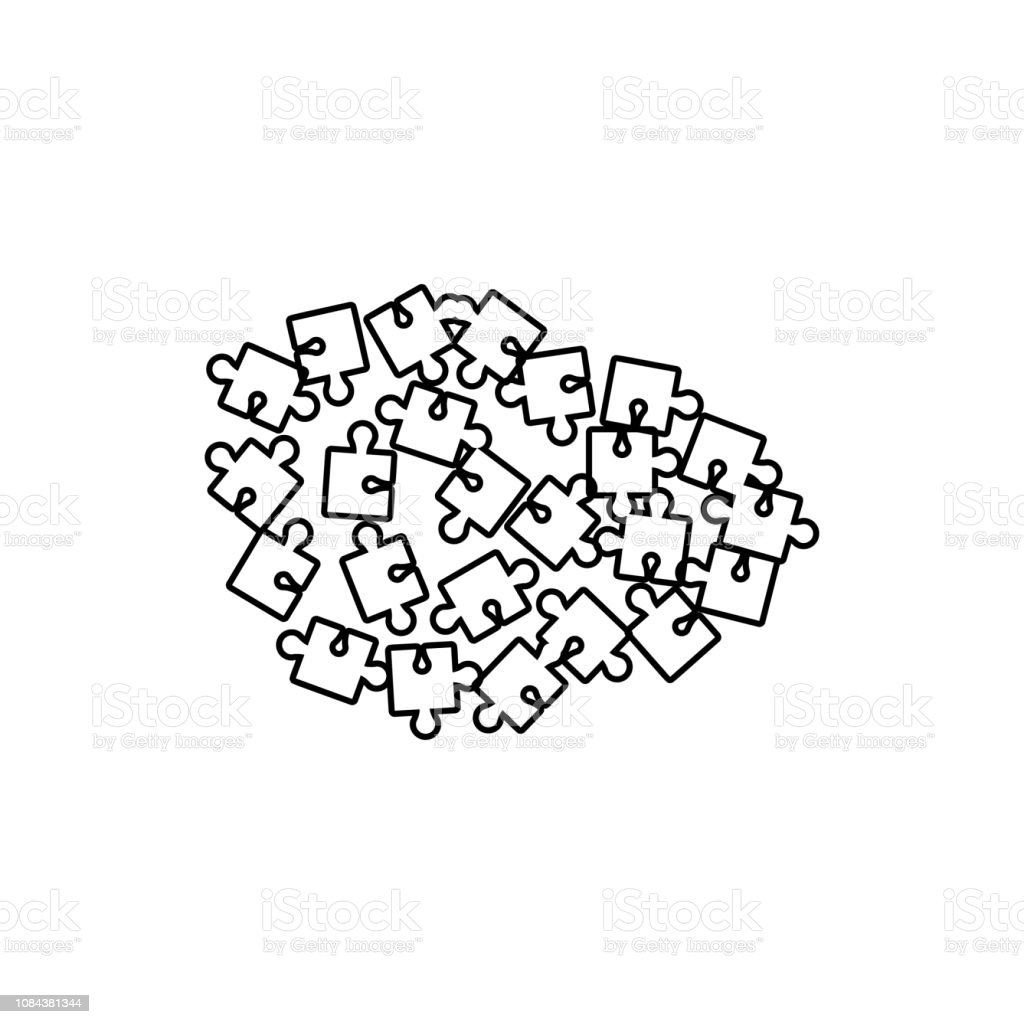 Puzzle Icon Element Of Chaos For Mobile Concept And Web Apps Icon Thin Line  Icon For Website Design And Development App Development Stock Illustration