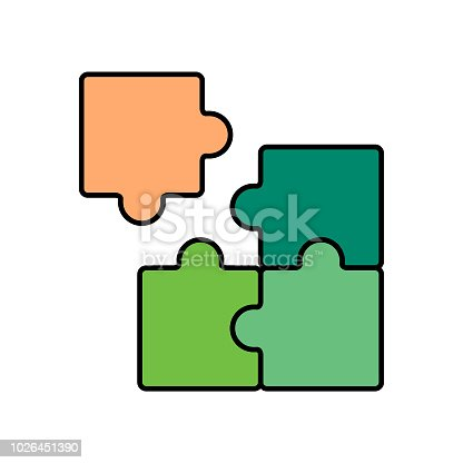 Puzzle icon, mismatch icon, incorrect, problems, criticism, impossible, wrong