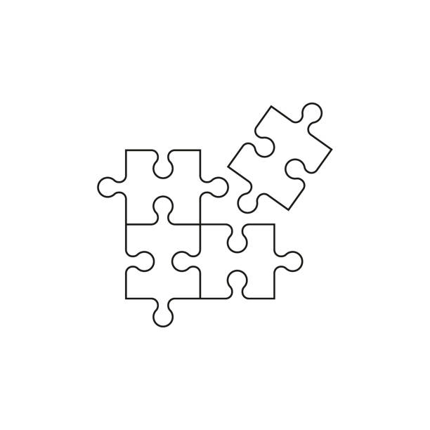 puzzle-symbol vektor - puzzle stock-grafiken, -clipart, -cartoons und -symbole