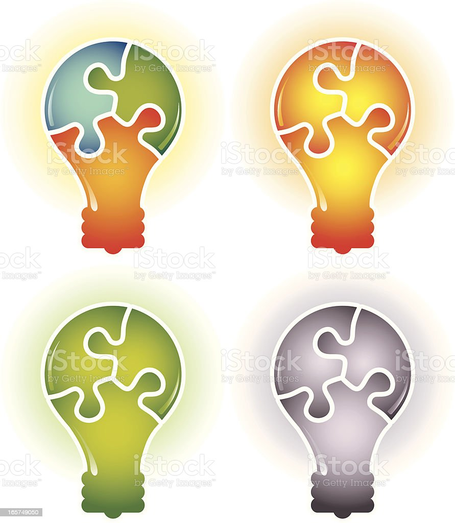 Puzzle Idea Solution vector art illustration