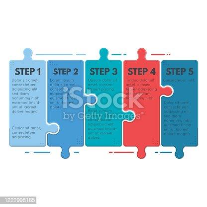 istock Puzzle infographic steps 1222998165