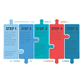 istock Puzzle infographic steps 1222998165