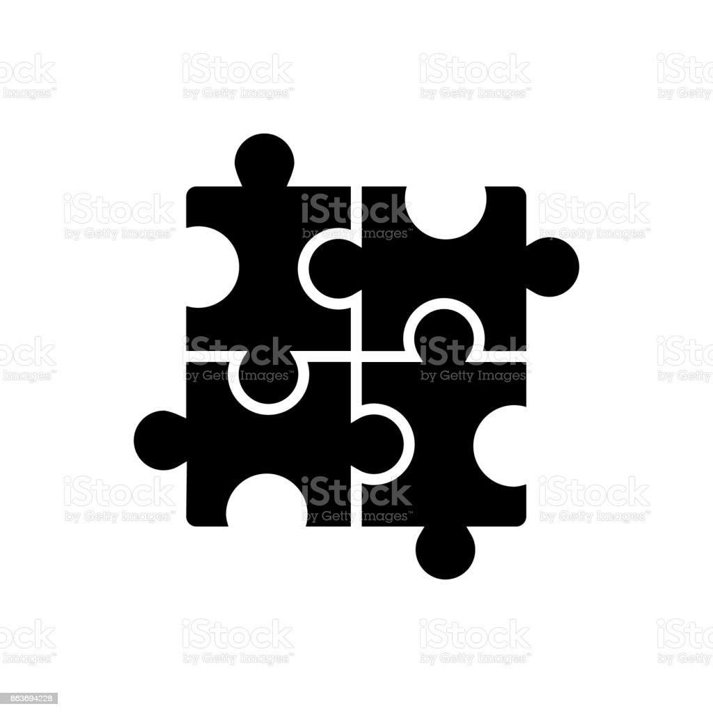 Puzzle - Yapboz kutsal kişilerin resmi, vektör çizim, izole arka plan üzerinde siyah işareti vektör sanat illüstrasyonu