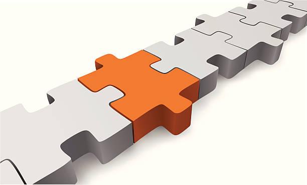 Puzzle-Verbindung – Vektorgrafik