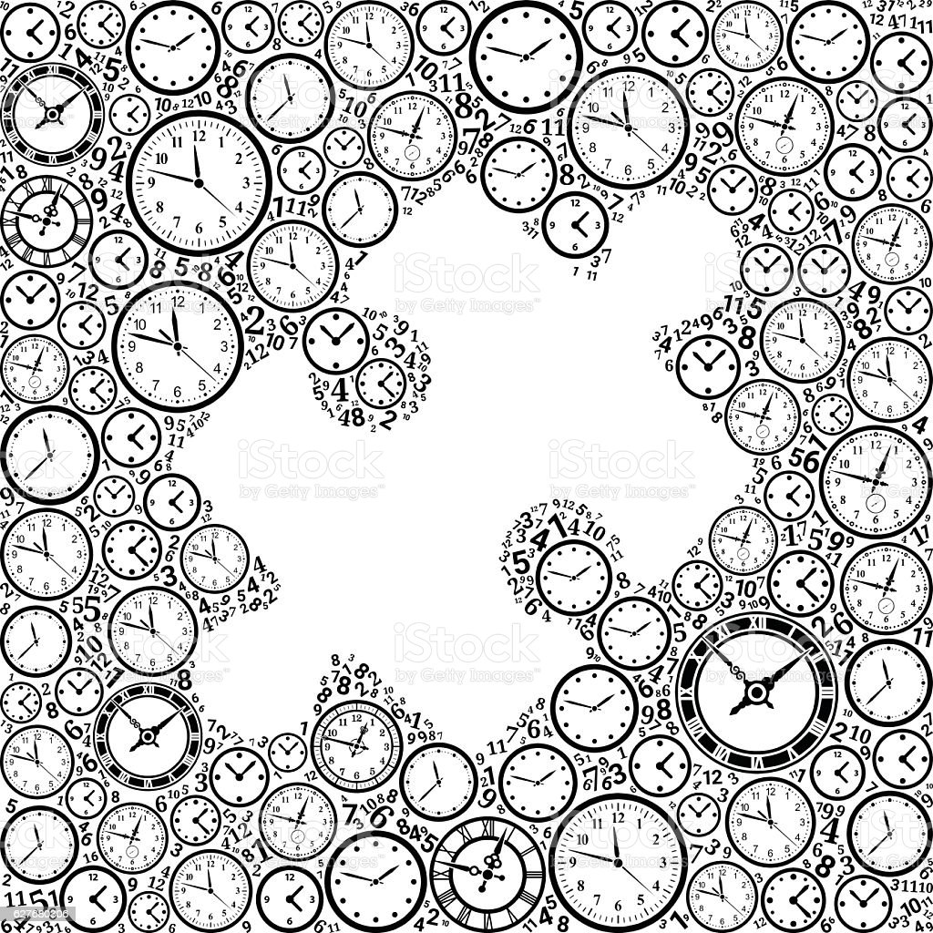 Puzzle On Time And Clock Vector Icon Pattern Stock Vektor Art und ...