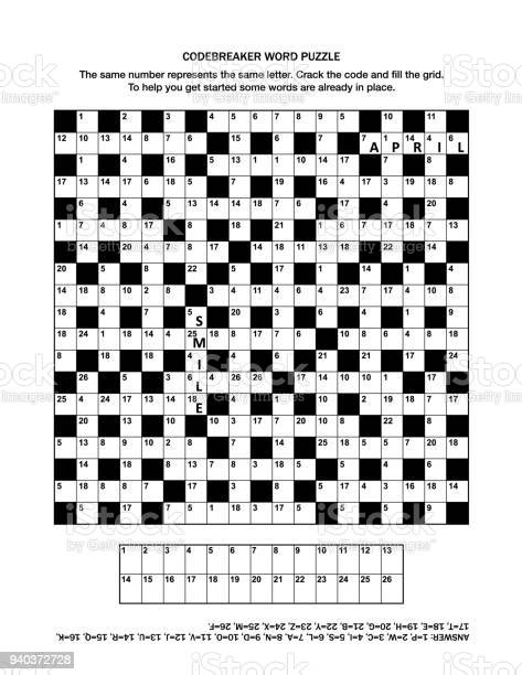 Puzzle page with codebreaker word game or crossword puzzle vector id940372728?b=1&k=6&m=940372728&s=612x612&h=6nyslkhe5myqzgvn0hqdjfcquuu6gmtcyyfd2uccfwy=