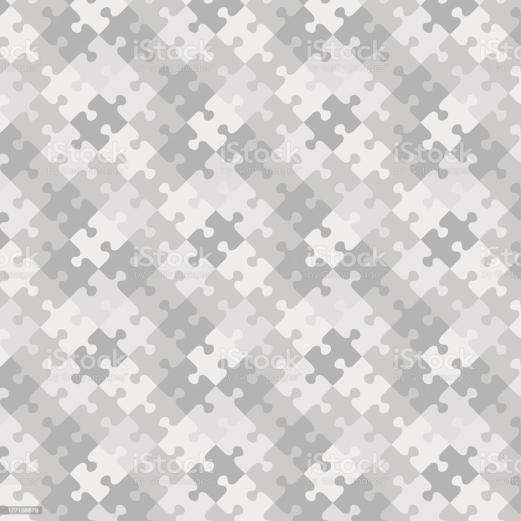 Puzzle pattern background, seamless swatch included royalty-free stock vector art