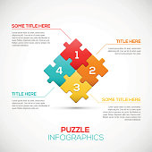 3D Puzzle piece infographics business concept vector  Vector Illustration for your design.