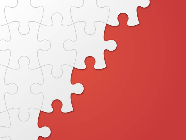 Puzzle Piece Background Puzzle piece background red copy space. lost stock illustrations