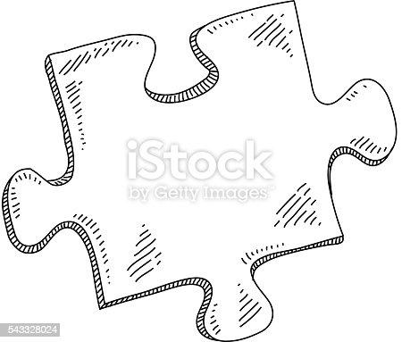 Pieza de puzzle dibujo arte vectorial de stock y m s - Puzzle dessin ...