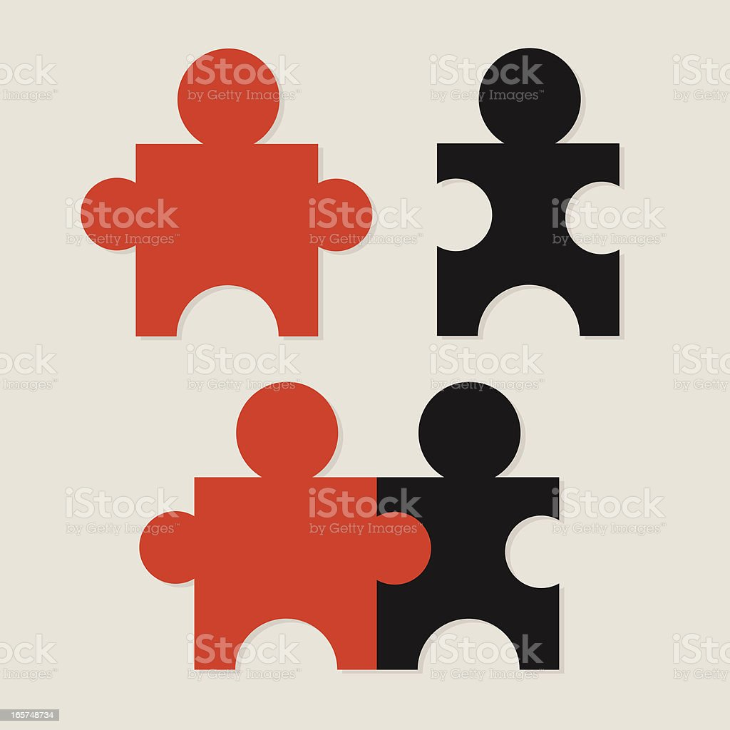 Puzzle Pieces royalty-free puzzle pieces stock vector art & more images of bonding