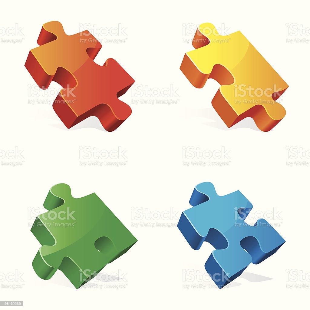 Puzzle pezzi. puzzle pezzi - immagini vettoriali stock e altre immagini di bianco royalty-free