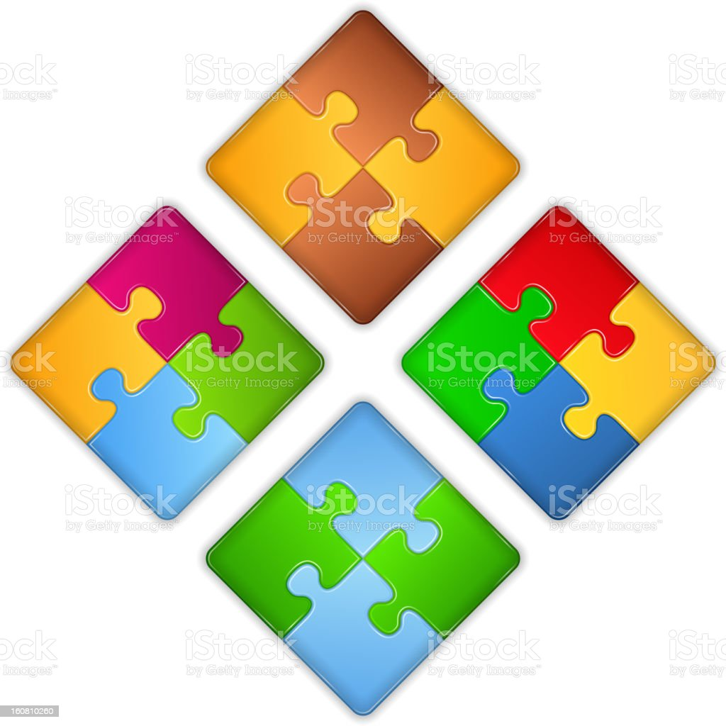 Puzzle Squares royalty-free stock vector art