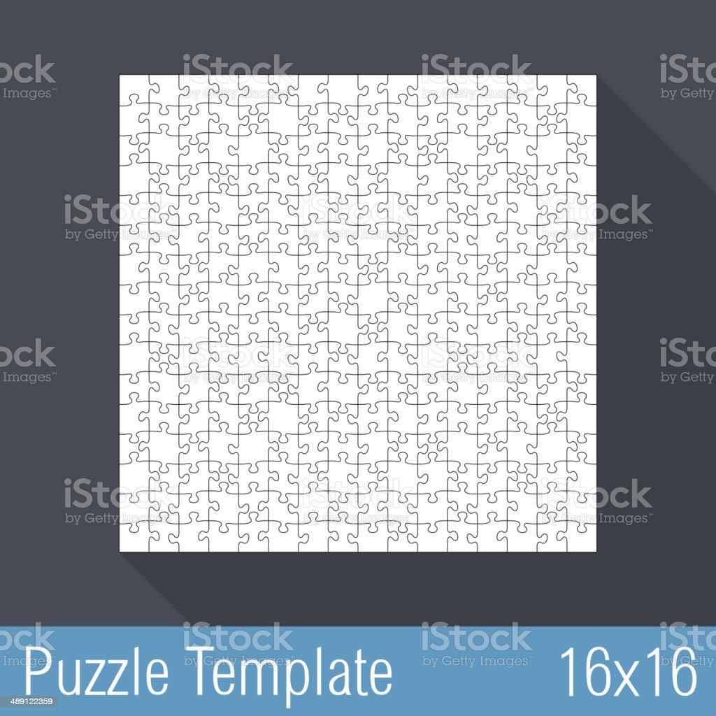 Puzzle Template 16x16 vector art illustration