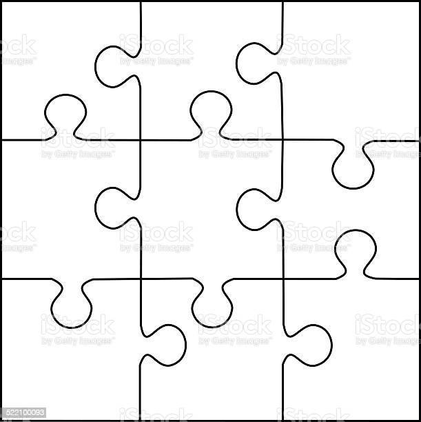 Puzzle template 9 pieces vector vector id522100093?b=1&k=6&m=522100093&s=612x612&h= 7sfzpqocttg5luysq8a j5yyez27fjf9pjt3savbhg=