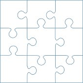 puzzle template 9 pieces vector stock vector art more images of