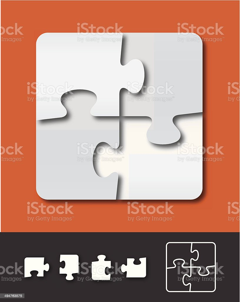 Puzzle Template vector art illustration