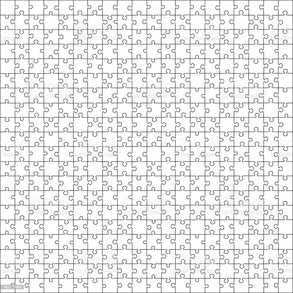 Puzzle template vector vector art illustration