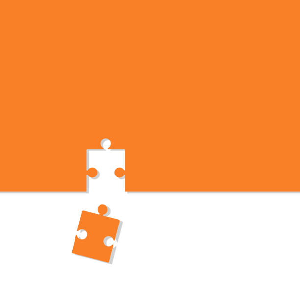puzzle-symbol vektorgrafik mit schatten flaches design - puzzle stock-grafiken, -clipart, -cartoons und -symbole