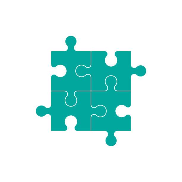 puzzle-vektorsymbol - puzzle stock-grafiken, -clipart, -cartoons und -symbole