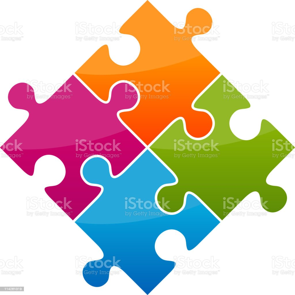 Puzzle vector illustration royalty-free stock vector art