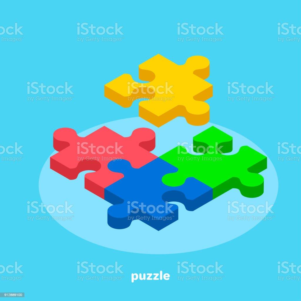 Puzzle2 vector art illustration