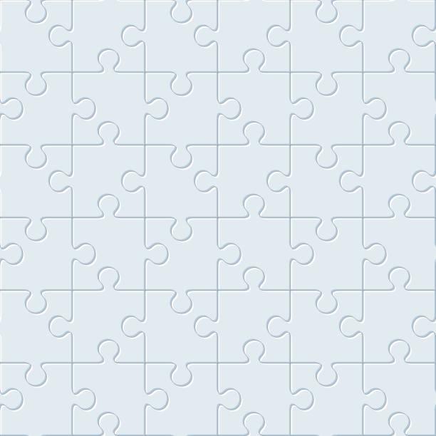 puzzles.  nahtlose muster - puzzle stock-grafiken, -clipart, -cartoons und -symbole