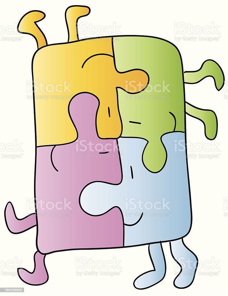 puzzles vector art illustration