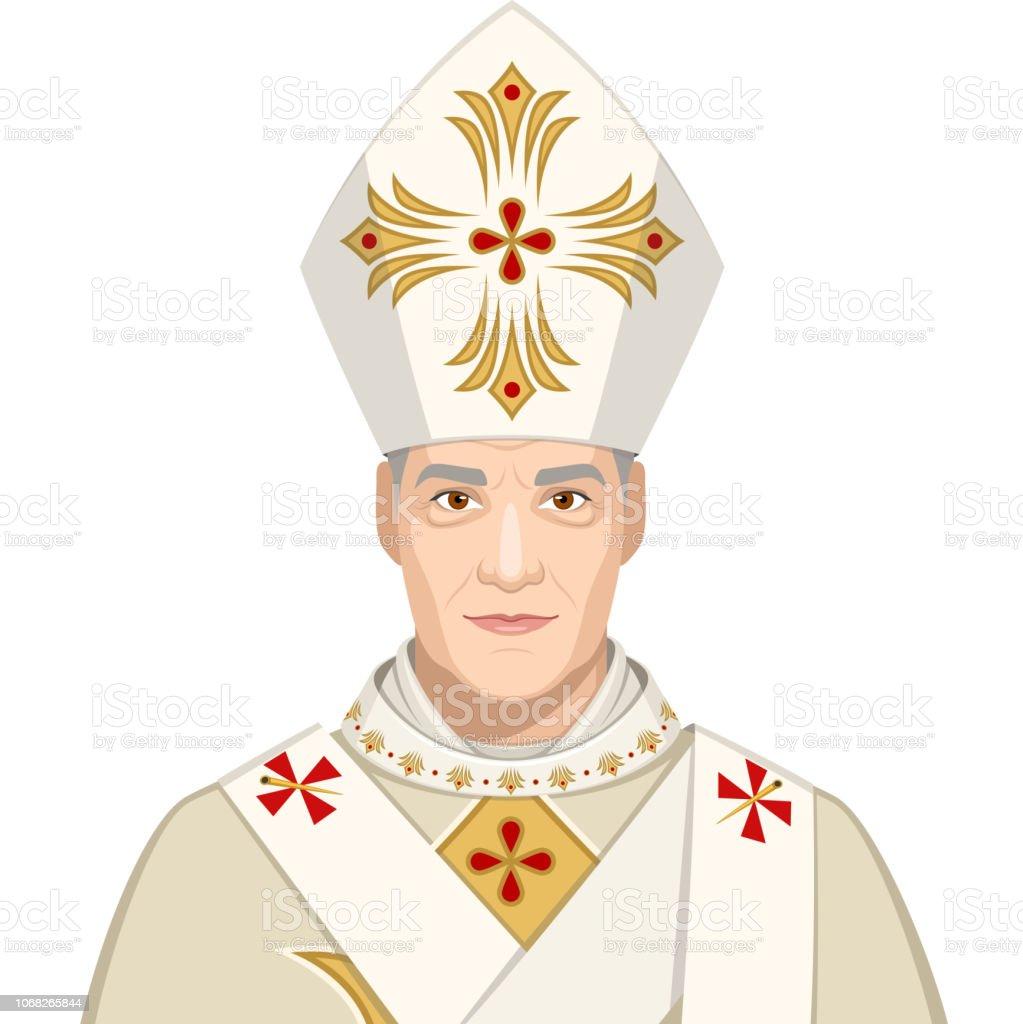 Påve - Royalty-free Başkentler Vector Art