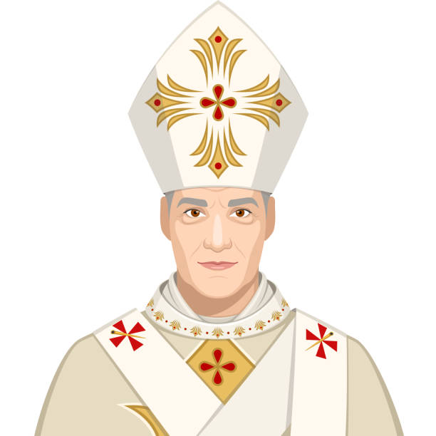 påve - pope francis stock illustrations