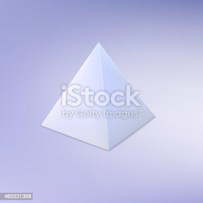 istock Pyramid, basic geometric shape. 465531358