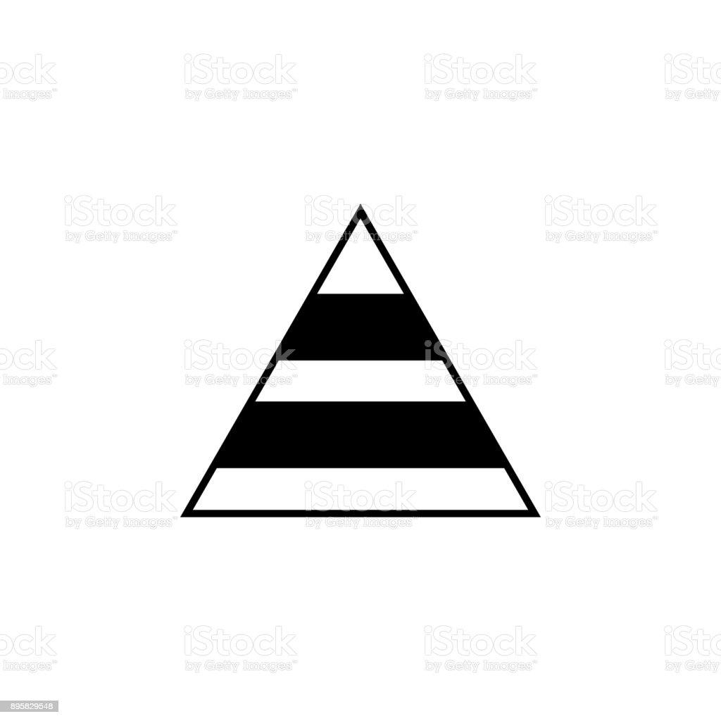 Pyramid Chart Icon Trend Diagram Element Icon Business Analytics