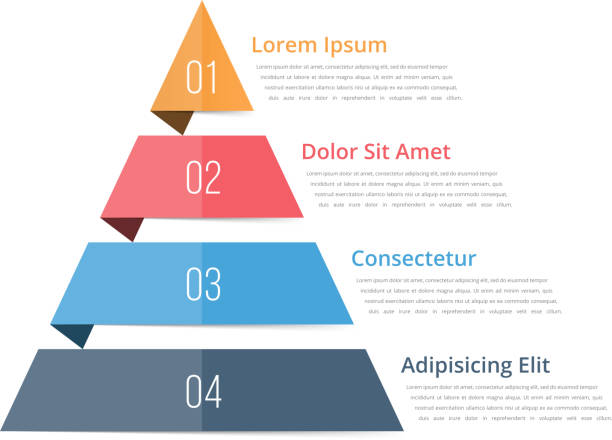 pyramid chart template - пирамида stock illustrations