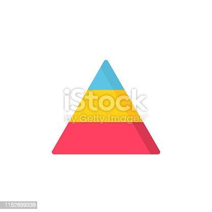 Pyramid Flat Icon.