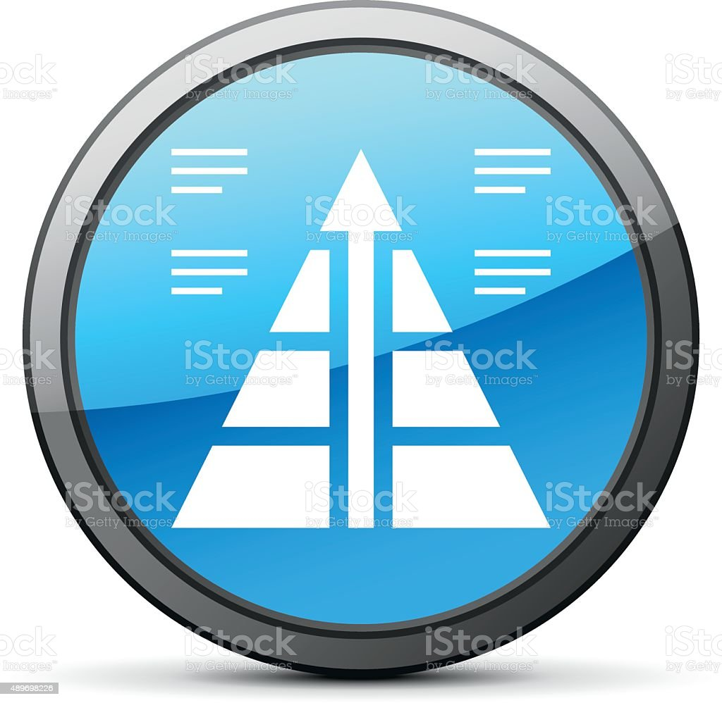 Pyramid icon on a round button. - Bright Series royalty-free pyramid icon on a round button bright series stock vector art & more images of 2015