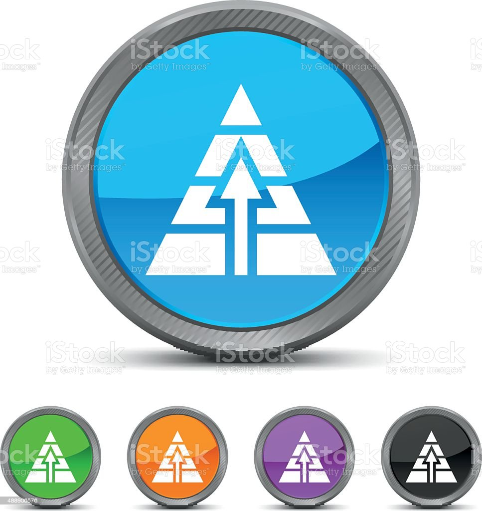 Pyramid icon on circle buttons. royalty-free pyramid icon on circle buttons stock vector art & more images of 2015
