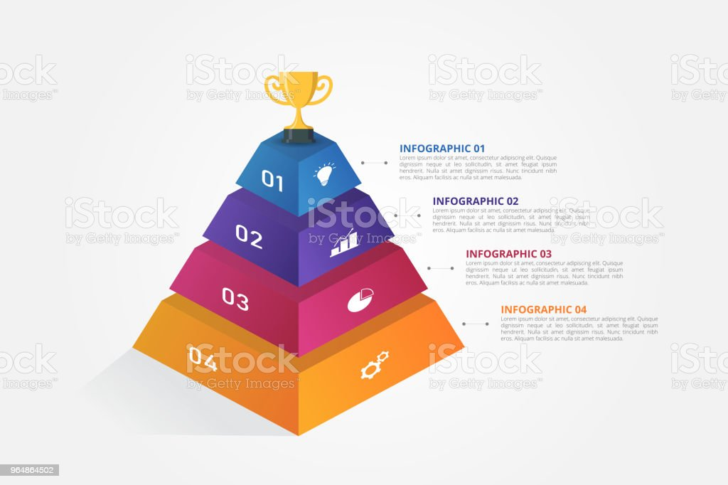 3D pyramid Infographic template for business, education, web design, banners, brochures, flyers, diagram, workflow, timeline. royalty-free 3d pyramid infographic template for business education web design banners brochures flyers diagram workflow timeline stock vector art & more images of abstract