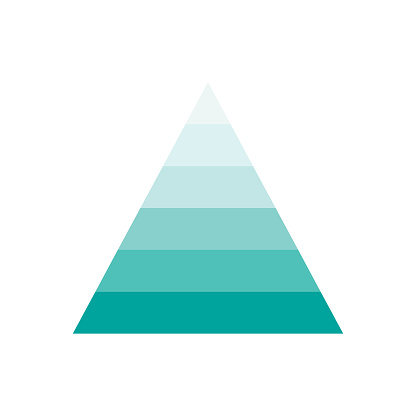 Pyramid infographic template with 6 charts.