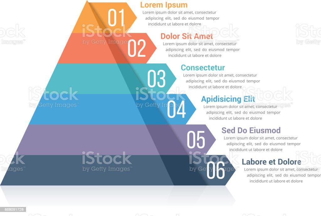 Pyramid Infographics векторная иллюстрация