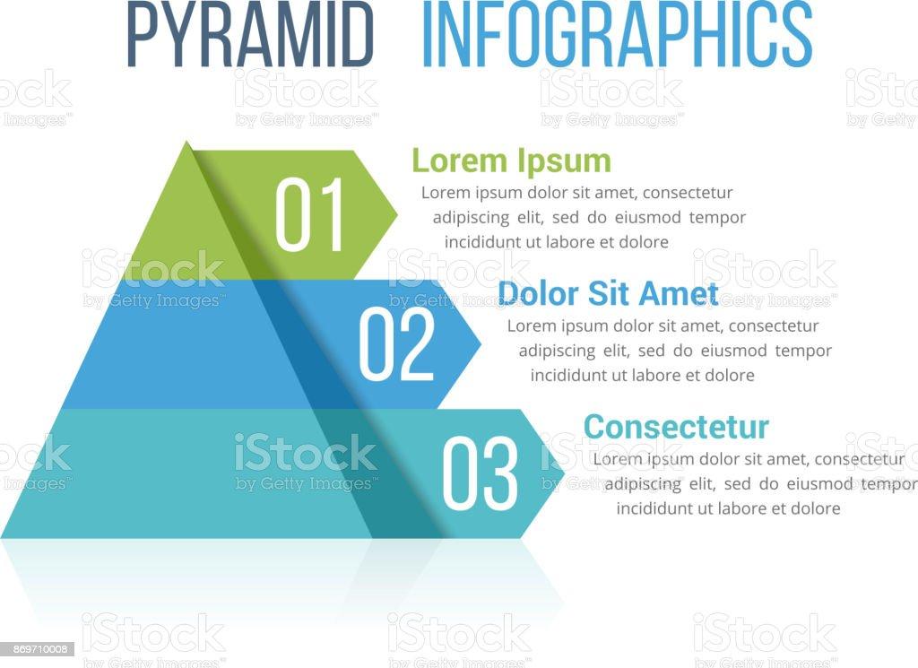 Pyramid Infographics – artystyczna grafika wektorowa