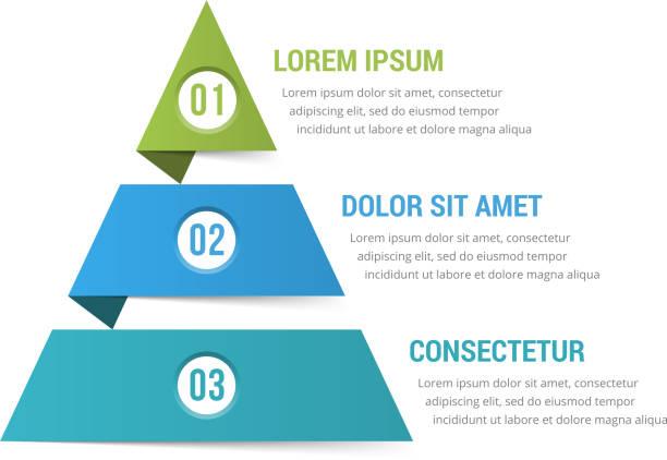 pyramide-infografiken - geometriestunde grafiken stock-grafiken, -clipart, -cartoons und -symbole