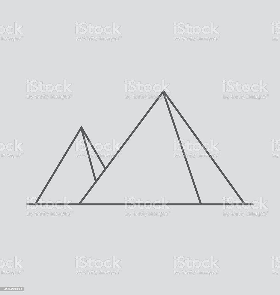 Pyramid line Illustration vector art illustration
