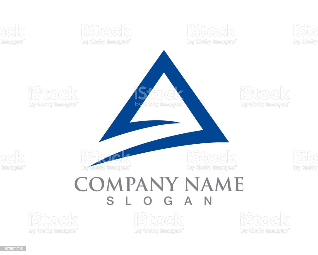 pyramid logo and symbol business abstract design template stock