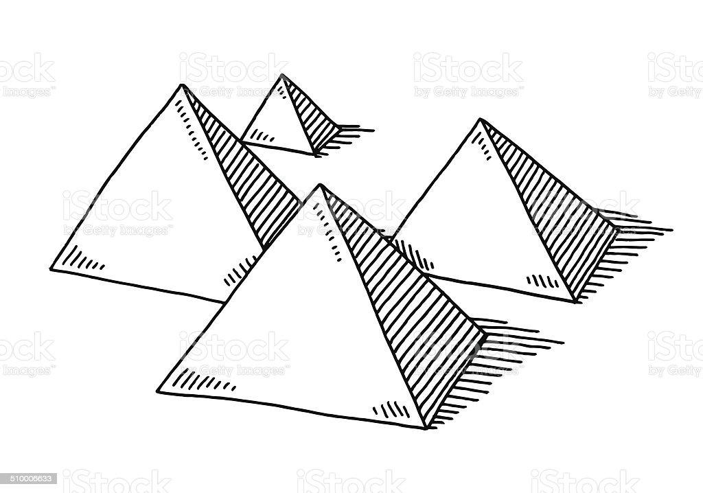 Pyramide de formes dessin vecteurs libres de droits et - Dessin de pyramide ...