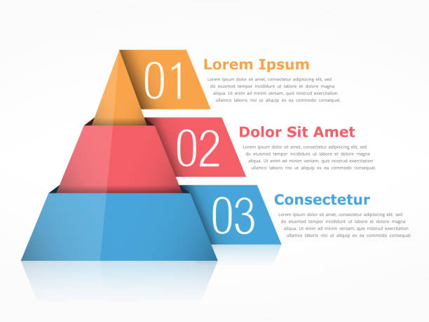pyramid - geometriestunde grafiken stock-grafiken, -clipart, -cartoons und -symbole